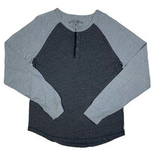 Lucky Brand Henley Shirt Pullover Colorblock L/S